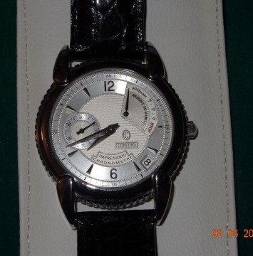 Concord Impresario Power Reserve Chronograph 14.g8.220 Men SS Leather for sale