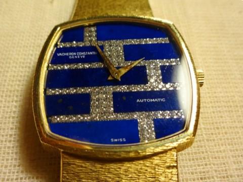 Constantine Vacheron Automatic Man Wristwatch 18K Gold With Diamonds for sale
