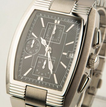 Men's Hamilton Stainless Steel Automatic Mount Vernon Chronograph Watch w/ Date for sale