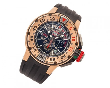 Richard Mille Rm032 Buceo Flyback Cronógrafo Ref. Rm032alrg 50mm 18K Oro Rosa for sale