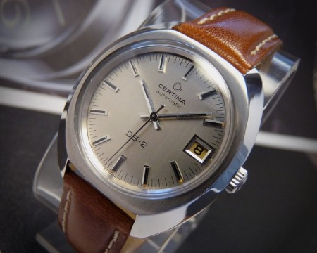 Stunning Certina DS-2 Stainless Steel 1970s Automatic Vintage MENS Gents WATCH! for sale