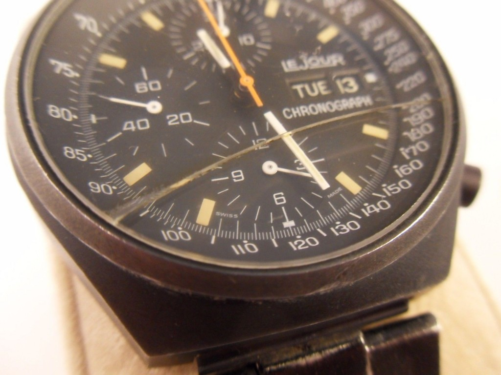 Vintage Le Jour PVD Men's Automatic Chronograph Watch ...