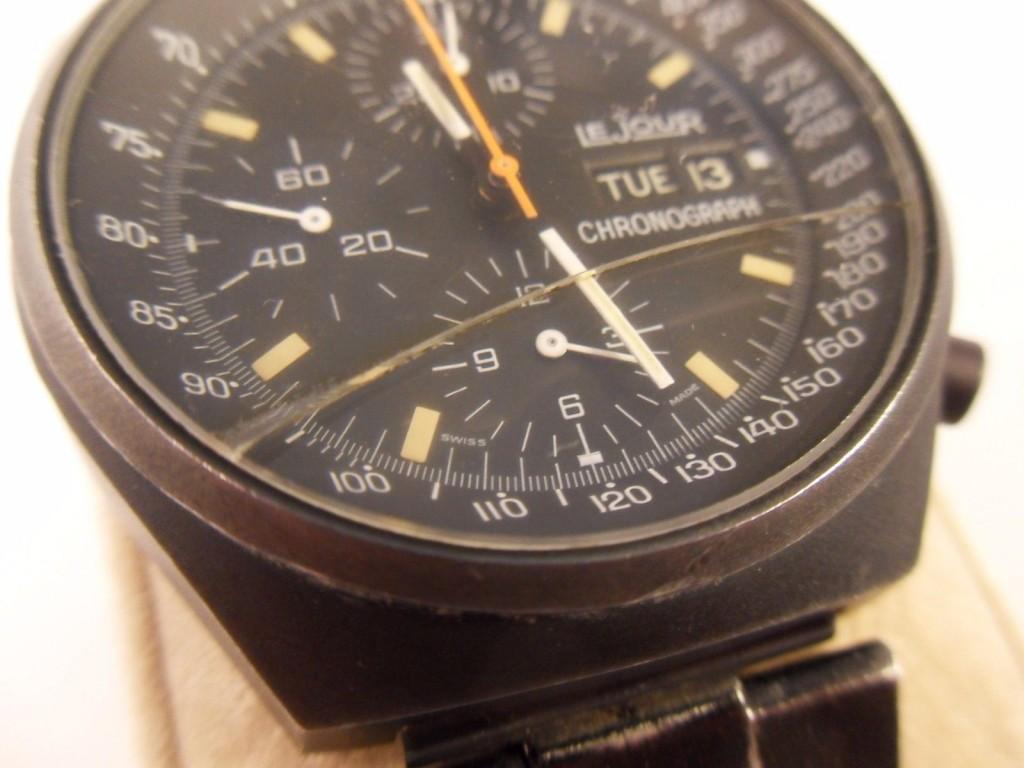 Vintage Le Jour Pvd Men S Automatic Chronograph Watch