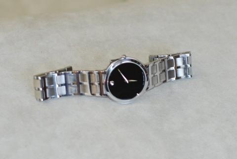 Men's Movado MODO Black Dial Stainless Steel Swiss Quartz Watch for sale