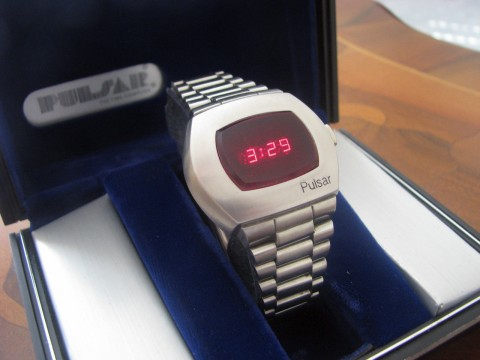 RARE Vintage Pulsar P2 James BOND LED Watch PLUS BOX Matching Serial Numbers for sale