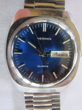 Vintage Hermes Quartz Watch Wristwatch Swiss Made Working Well for sale