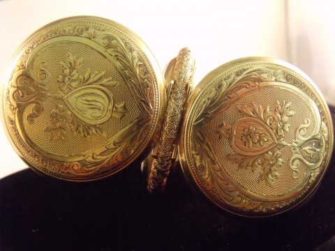 Vintage Waltham 14K Solid Yellow Gold 56mm Hunter Pocket Watch 153.3 Grams 1800s for sale