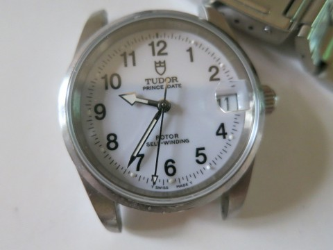 Authentic Tudor Prince Date Stainless Steel Automatic Watch 72000 White Dial for sale