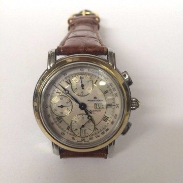 Maurice Lacroix Stainless Steel and 18K Gold Watch for sale