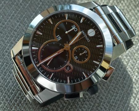 Movado Vizio Chronograph,tungsten Bezel,carbon Fiber Dial,men's MODEL#0606083!! for sale