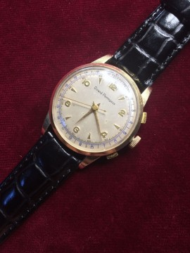 Vintage Girard Perregaux Start Stop Chronograph Watch Rare Pulsations Wristwatch for sale