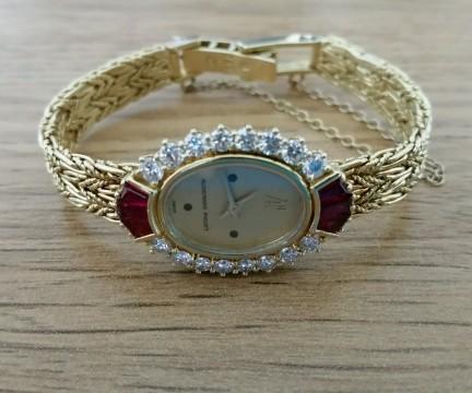 Vintage Ladies Audemars Piguet 18k Yellow Gold W/diamond Bezel Quartz Watch for sale