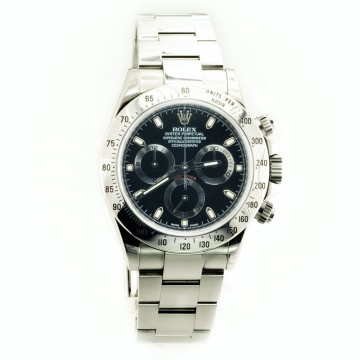 100% Authentic Rolex Daytona 116520 Black DIAL Stainless Steel Oyster BRACELET for sale