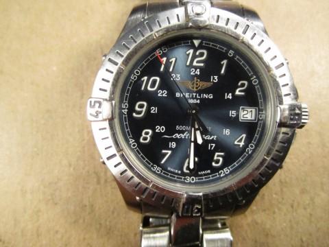 Men's Breitling Colt Ocean Quartz Wrist Watch, A64050, Stainless, Runs Great for sale