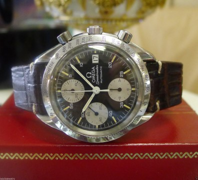 Mens Omega Speedmaster Professional Automatic Chronograph Stainless Steel Watch for sale