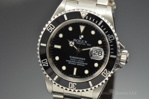 Mens Stainless Steel Rolex Submariner Date 40MM 16610 Automatic Watch T Serial for sale