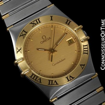Omega Constellation Mens Watch, Quartz, Date, 35mm   Stainless Steel & 18K Gold for sale