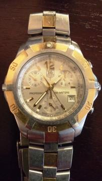 Tag Heuer 2000 Exclusive Mens Swiss Quartz Chronograph Watch Cn1151 18k Gold for sale