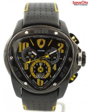 Tonino Lamborghini Spyder Chronograph Stainless Steel Leather Quartz Men's Watch for sale