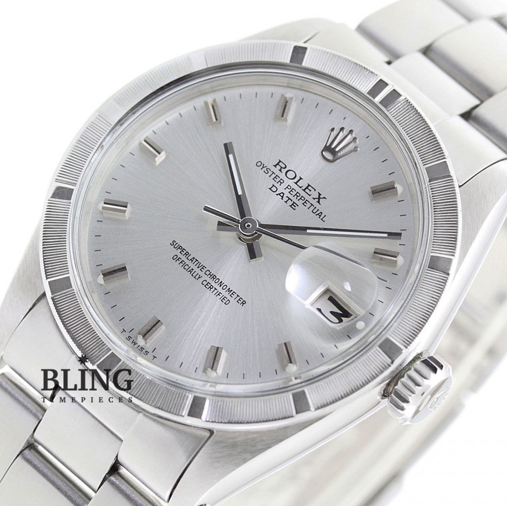 Vintage 34mm Men S Rolex Oyster Perpetual Date Stainless