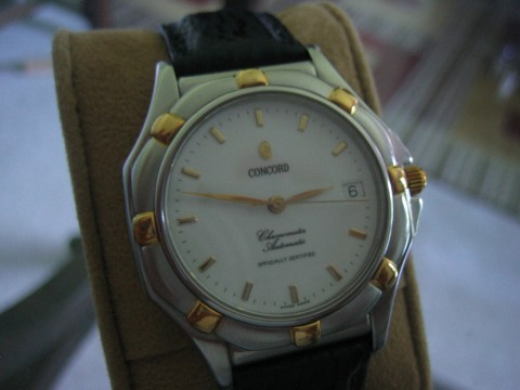 Concord Saratoga 18K Yellow Gold & Stainless Chronometer Automatic Wristwatch for sale