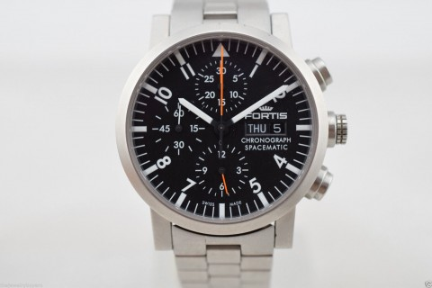 Fortis Automatic Chronograph Spacematic Day Date 40mm Men's Watch 625.22.141 for sale