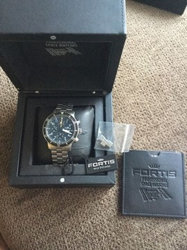 Fortis B 42 Official Cosmonauts Chrono 42MM CASE Metal Bracelet 638.10.11 M for sale