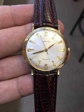 Men's Vintage Hamilton 14 Kt Solid Gold Automatic Watch !! for sale