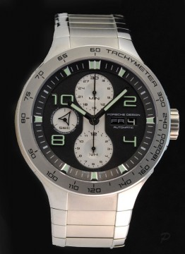 Porsche Design Flat Six P'6340, Steel, Automatic Chronograph, Day/date swissmade for sale