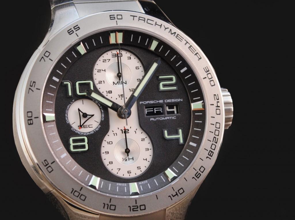 Porsche Design Flat Six P'6340, Steel, Automatic Chronograph, Day/date swissmade